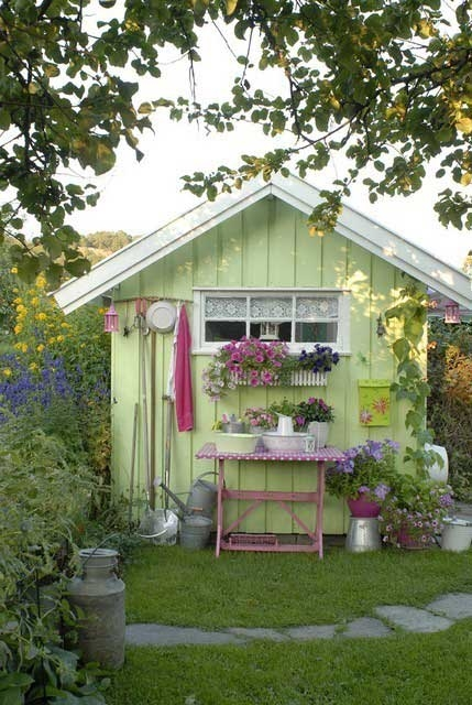 Many Of Them Were Renovated To Become A Great Decoration Of A Garden So If  You Have A Garden Shed You Donu0027t Like You Can Turn Into Something As  Beautiful As ...