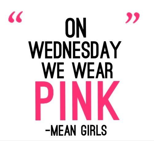 On wednesday we wear pinkOn Wednesdays We Wear Pink Tumblr Transparent