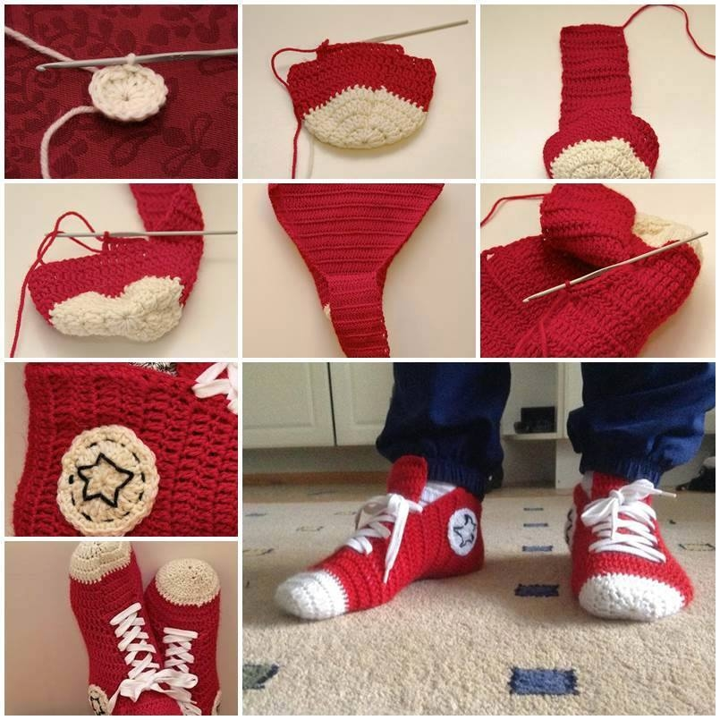 611f8637035 Diy Crochet Converse Slippers Pictures, Photos, and Images for ...