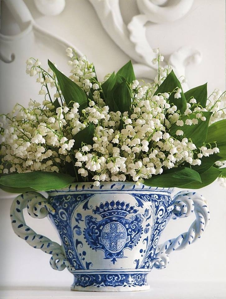 lily   valley  bleu white vase pictures
