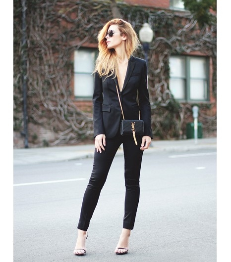 Modern Amp Sexy Black Pants Amp Blazer Pictures Photos And