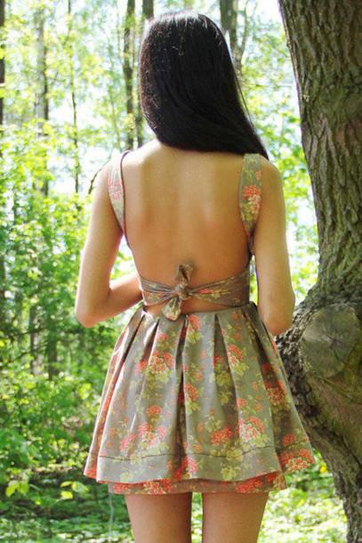 Backless Summer Dress White Tumblr