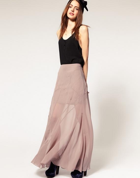 Pics For U0026gt; Chiffon Skirt Outfit Tumblr