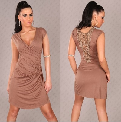 coffee colored wrap dress pictures photos and images for facebook tumblr pinterest and twitter. Black Bedroom Furniture Sets. Home Design Ideas