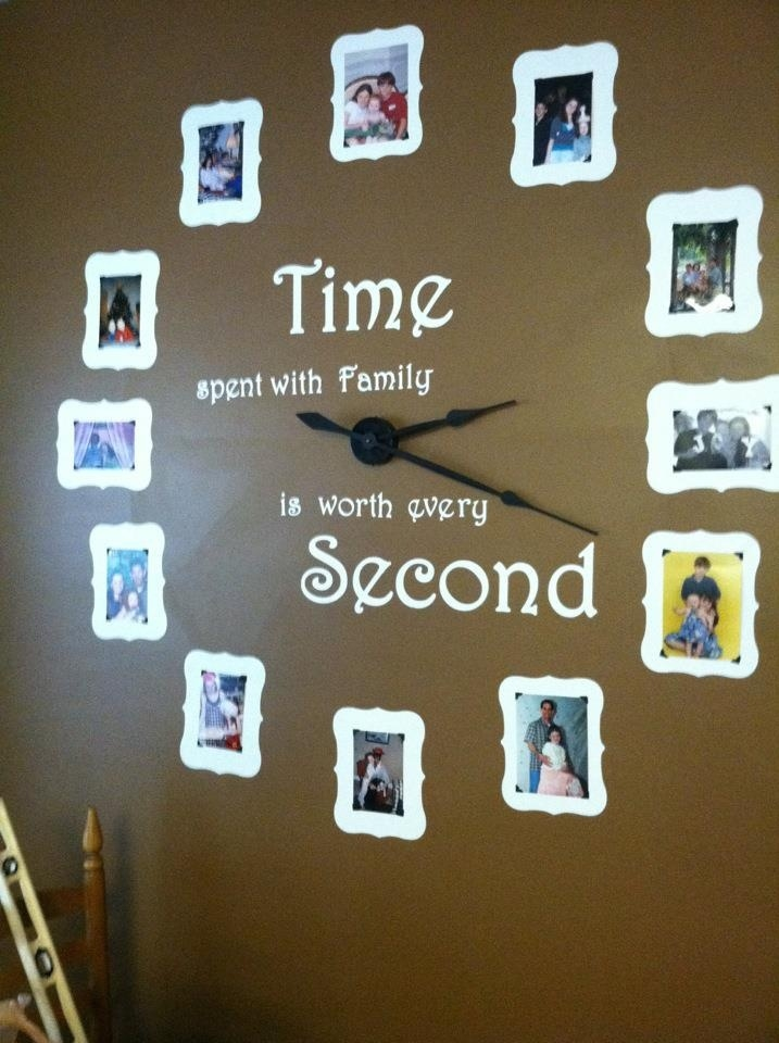 Diy Family Photo Display Click On Image To See More Home: DIY Family Wall Clock Pictures, Photos, And Images For