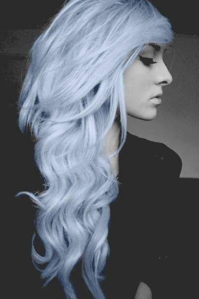 Blue Curly Hair...