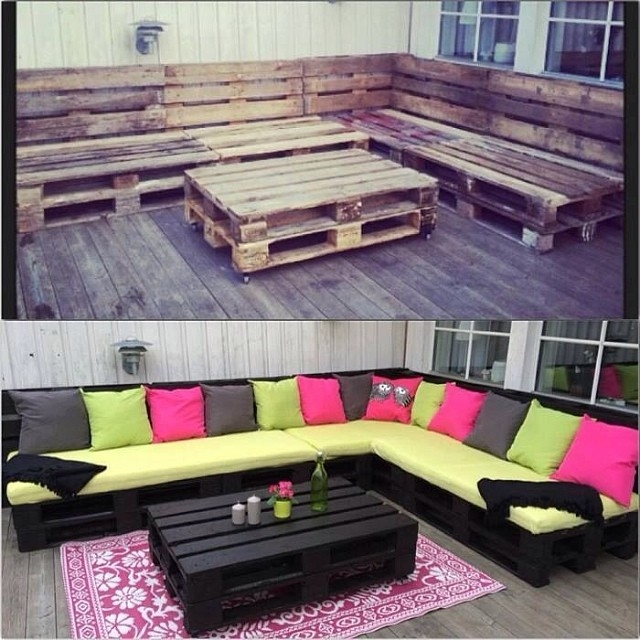 Pallet Deck Furniture-www.lovethispic.com