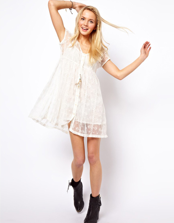 White Lace Mini Summer Dress Pictures, Photos, and Images for ...