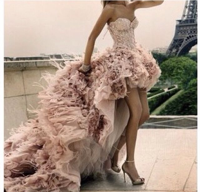 Long Pink Ruffle Dress Pictures Photos And Images For