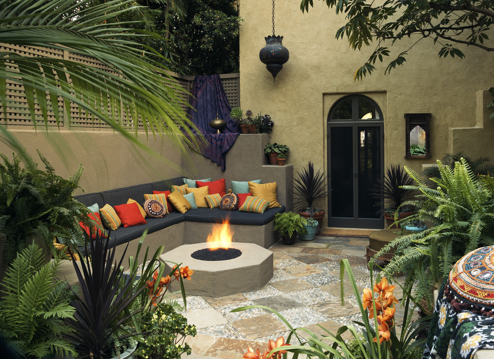 Superior Colorful Outdoor Sitting Area