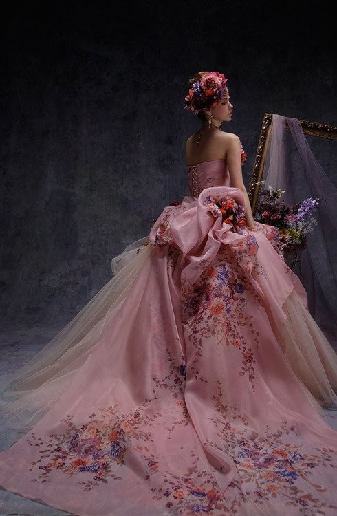 Gorgeous Pink Gown With Long Train Pictures, Photos, and Images for ...