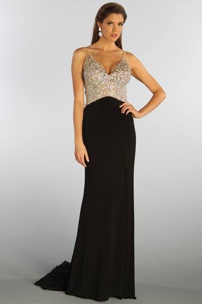 Long Black Dress With Sequin Top Pictures Photos And