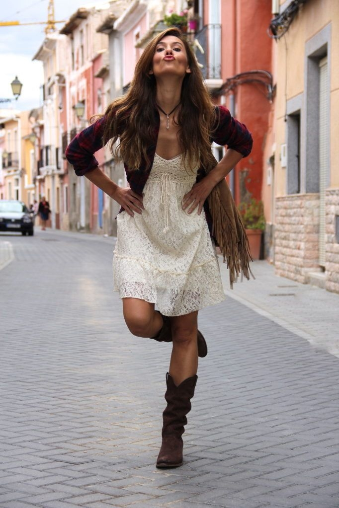 Lacy Summer Dress & Boots Pictures, Photos, and Images for ...