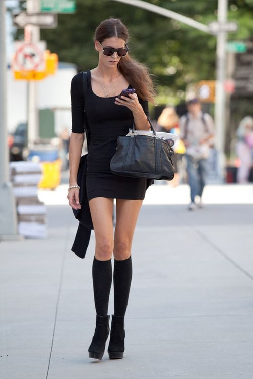 Short skirt with knee socks amp short boots pictures photos and images