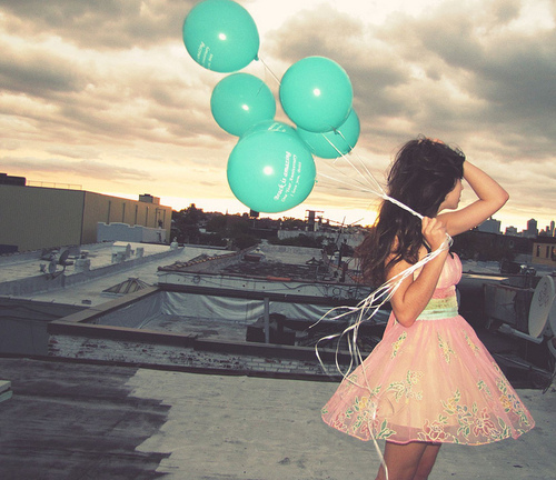 Girl With Balloons Pic...