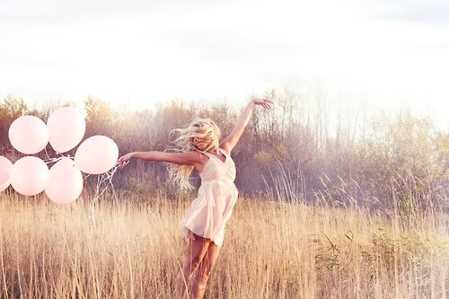 Girl with Pink Balloon...