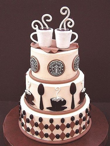 Starbucks Coffee Wedding Cake Pictures Photos and Images for