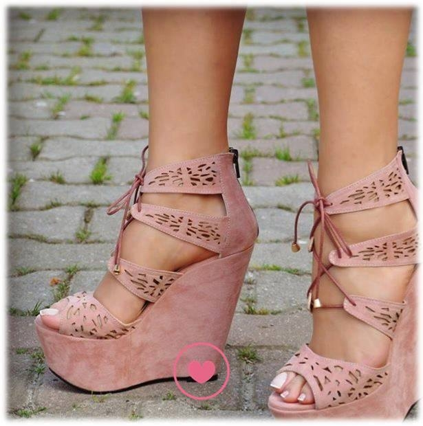 Dusty Rose Wedge Sandals Pictures Photos And Images For