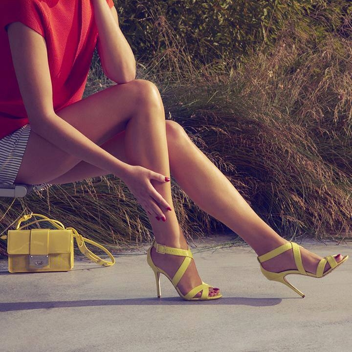 Yellow Jimmy Choo High Heel Sandals Pictures Photos and Images