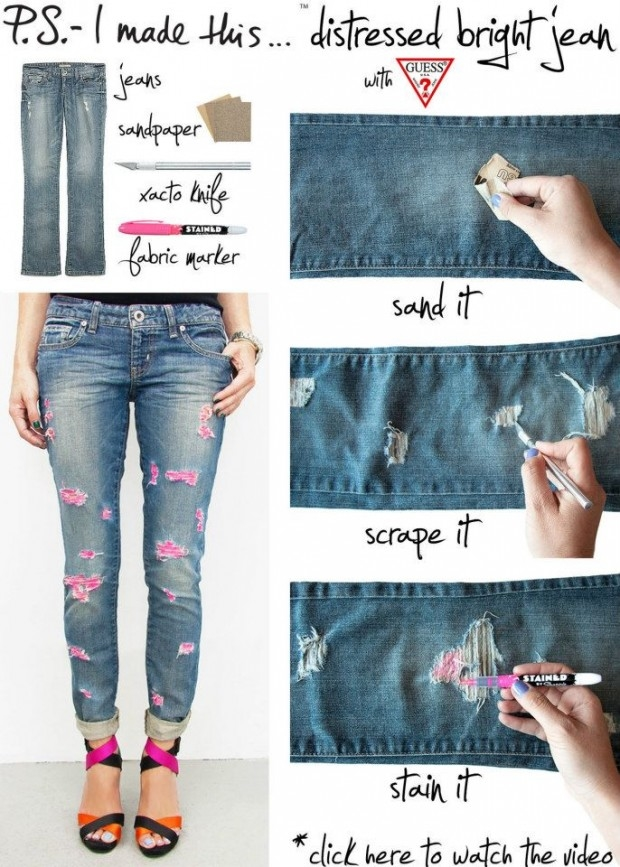 Diy Distressed Jeans Pictures Photos And Images For