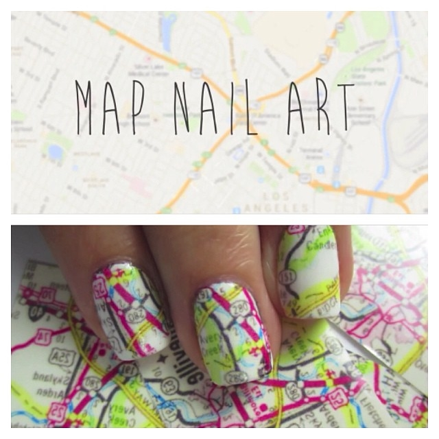 Map Nail Art Pictures, Photos, and Images for Facebook, Tumblr ...