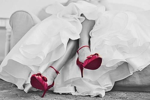 Wedding Day Red Heels