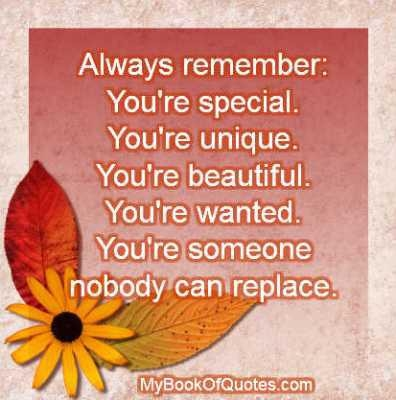 Image result for Remember you are special
