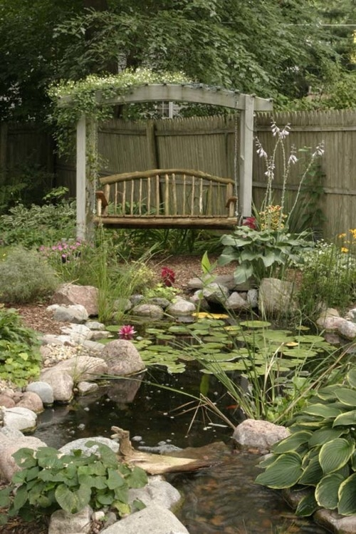 Garden pond pictures photos and images for facebook for Garden pool facebook