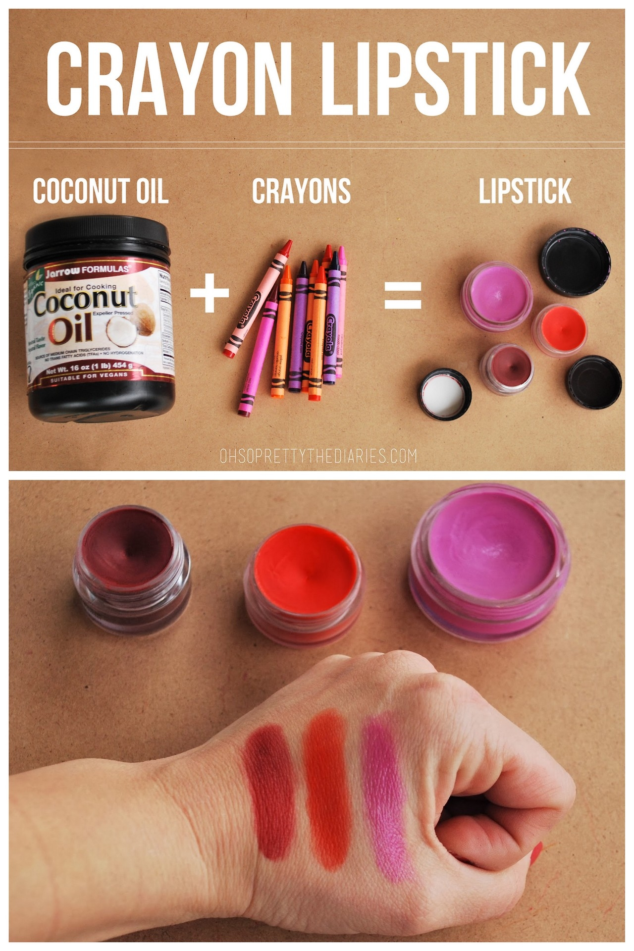 This DIY Crayon Lip Balm recipe is the perfect thing for little girls to make and give to their BFFs (and mamas). It's actually pretty simple to make these, and loads of fun for the kids. You can even add in some essential oils to protect your lips against the winter wind or summer sun.