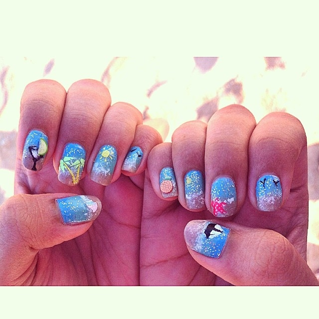 Beach Themed Nails Pictures Photos And Images For Facebook Tumblr