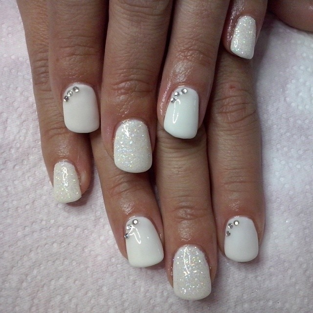 White Glitter Nails Pictures Photos And Images For Facebook