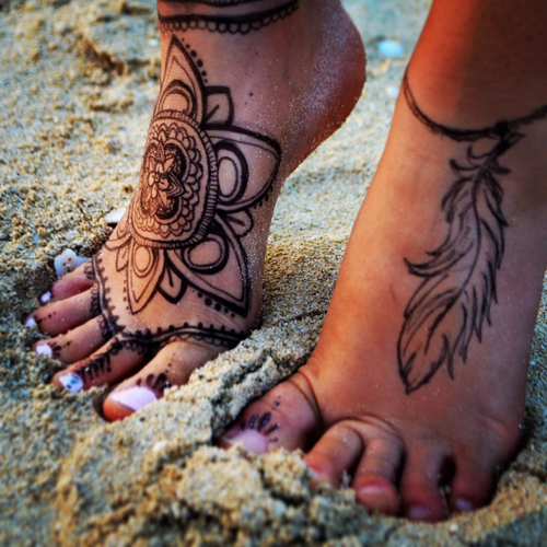 Henna Tattoo Small Ankle: Henna Ankle Tattoo Pictures, Photos, And Images For