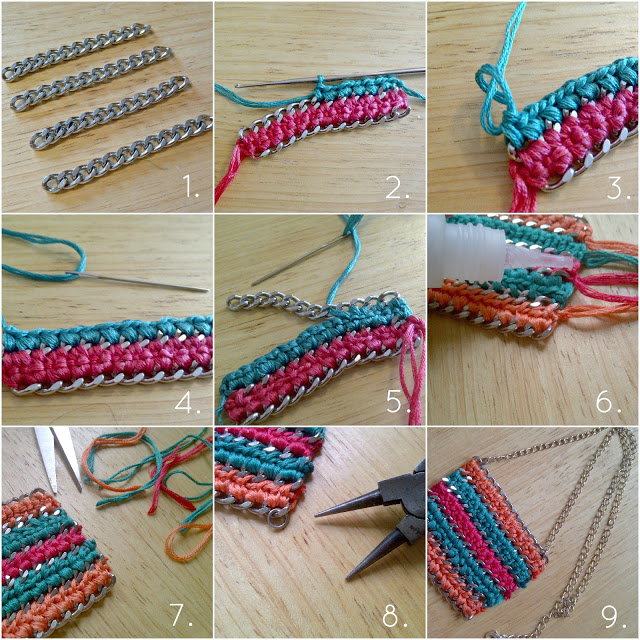 Diy Chain And Crochet Statement Necklace Pictures Photos
