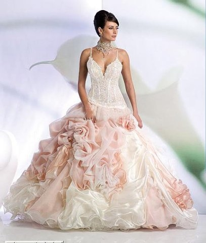 Gorgeous Two Tone Wedding Dress
