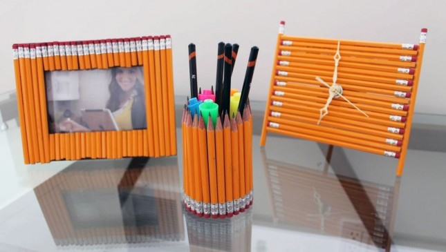Diy pencil desk accessories pictures photos and images for Diy office accessories