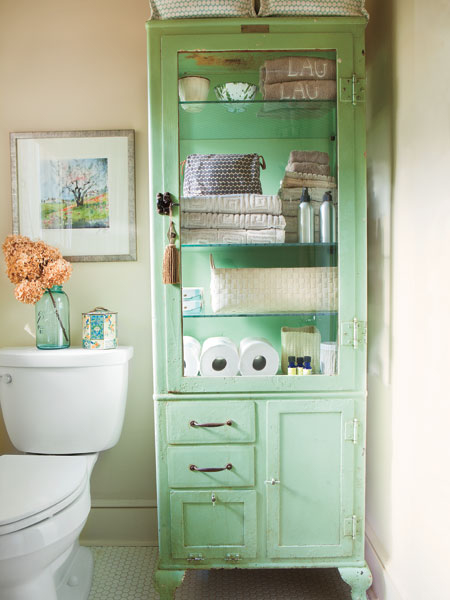 Shabby Chic Cupboard For Bathroom