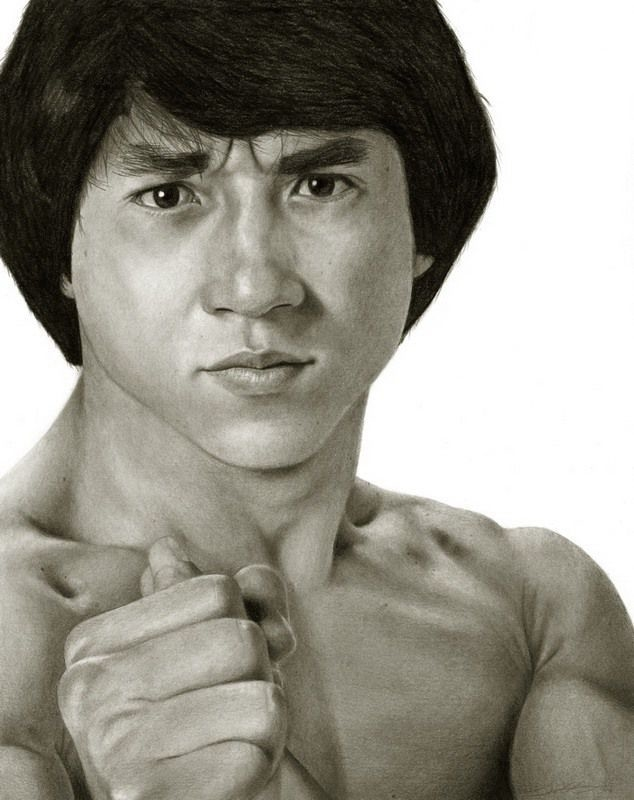 Jackie Chan Life Like Art (penciled In) Pictures, Photos ...