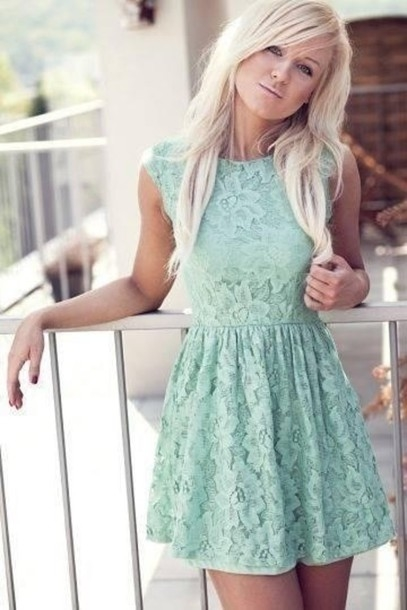 Mint Lace Summer Dress Pictures, Photos, and Images for Facebook ...