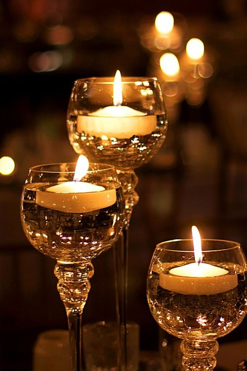 floating candles in wine glasses pictures photos and images for facebook tumblr pinterest. Black Bedroom Furniture Sets. Home Design Ideas
