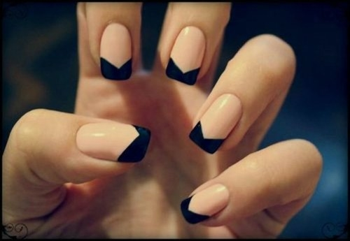And Black Tipped Nails