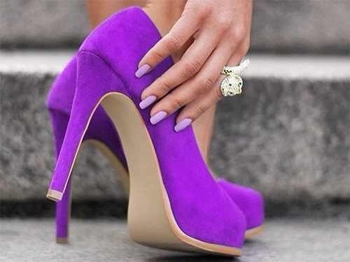Purple Suede Pumps Pictures, Photos, and Images for Facebook ...