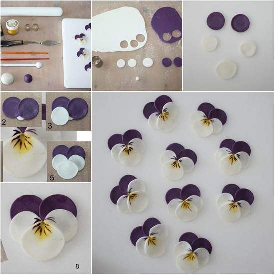 DIY Polymer Clay Pansies Pictures Photos And Images For