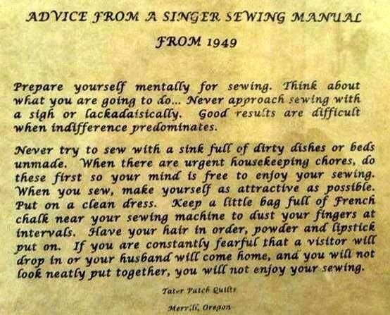 Advice From A Singer Sewing Machine Manual 40 Pictures Photos Gorgeous Singer Sewing Machine 1949