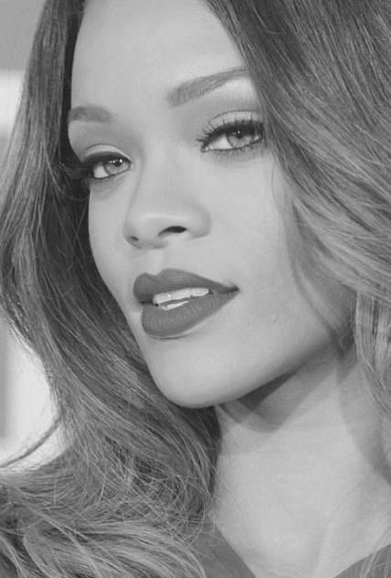Rihanna in black and white