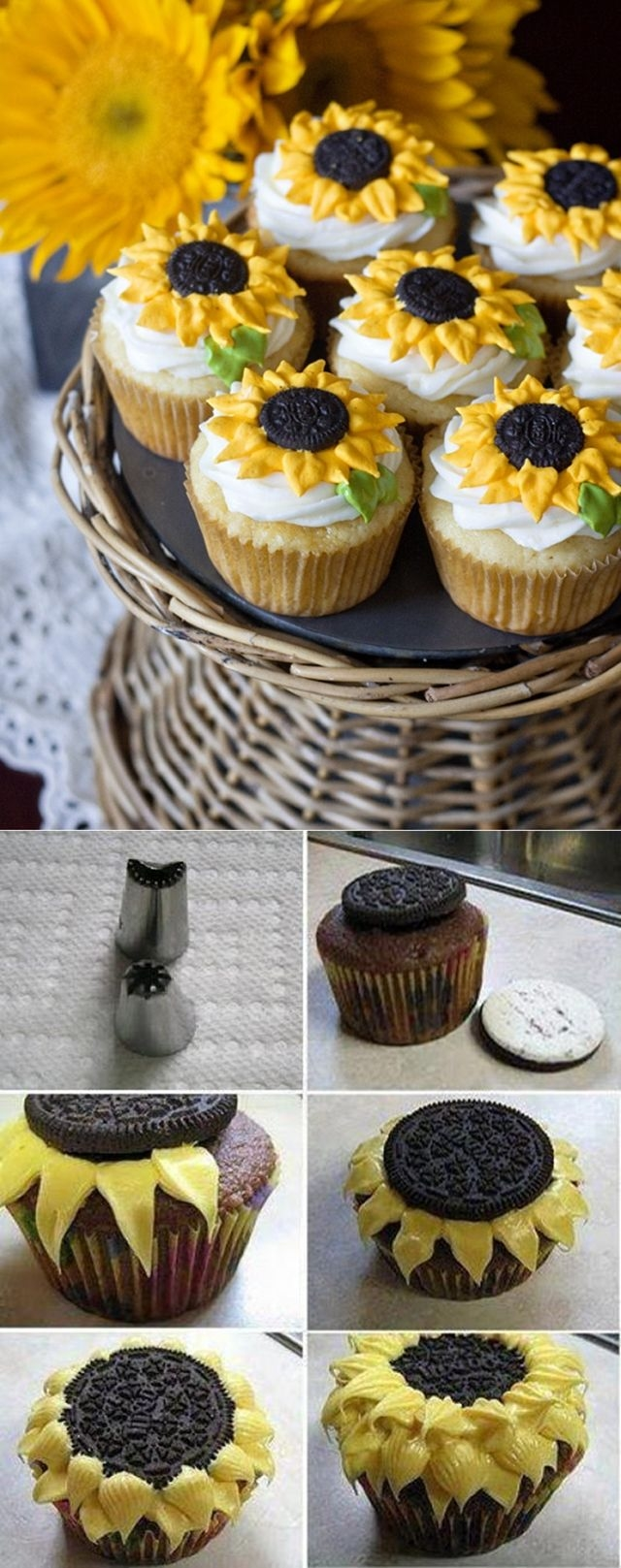 DIY Sunflower Cupcakes Pictures, Photos, And Images For