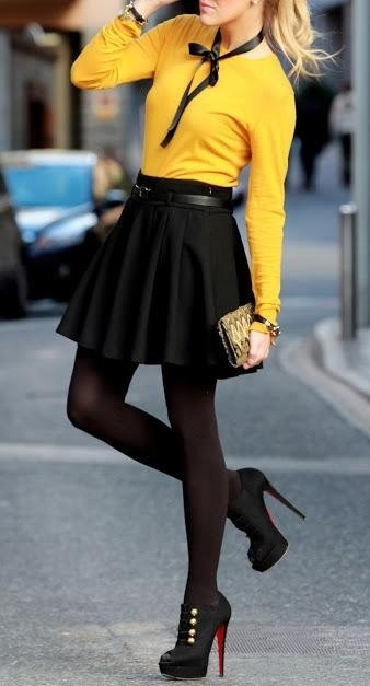 Classic Black With Yellow Outfit Pictures Photos And Images For Facebook Tumblr Pinterest ...