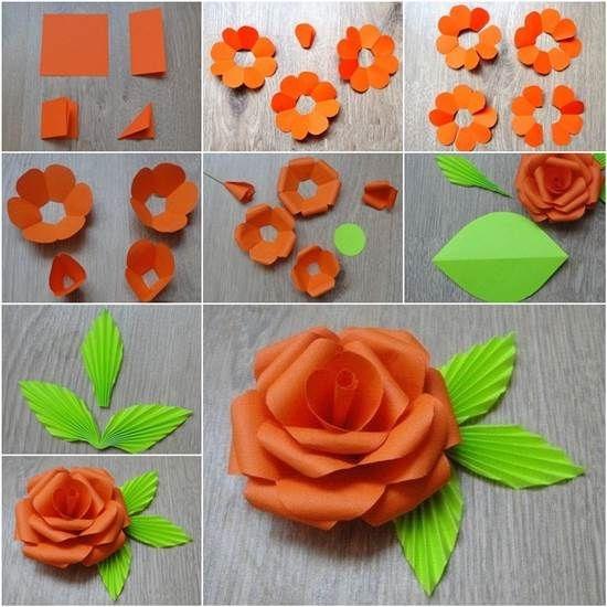 Цветы из бумаги своими руками для детей