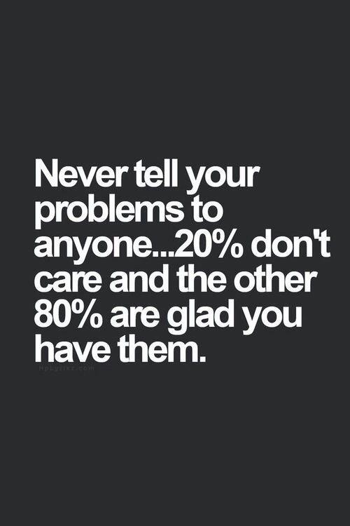 Never Tell Your Problems To Anyone Pictures Photos And Images For