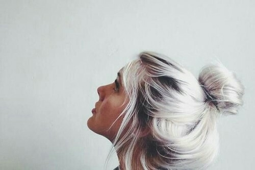 White Silver Hair Bun Pictures Photos And Images For