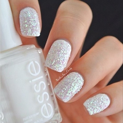 White essie glitter nails pictures photos and images for white essie glitter nails prinsesfo Choice Image
